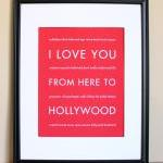 Hollywood art print, 8x10