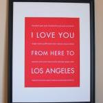 Los Angeles Art Print, 8x1..