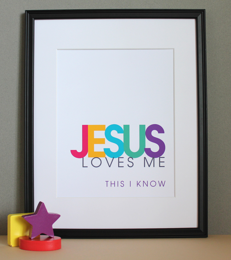 Christian Wall Decor For Nursery : Jesus loves me christian nursery wall art girl colors on
