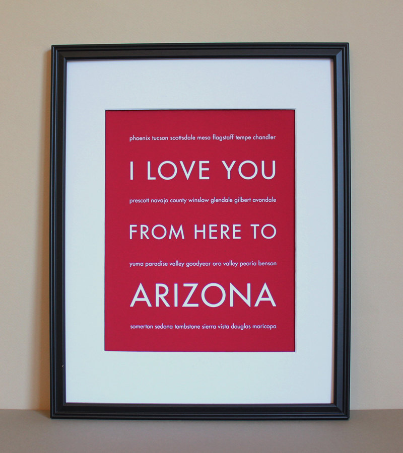 Arizona art print, 8x10