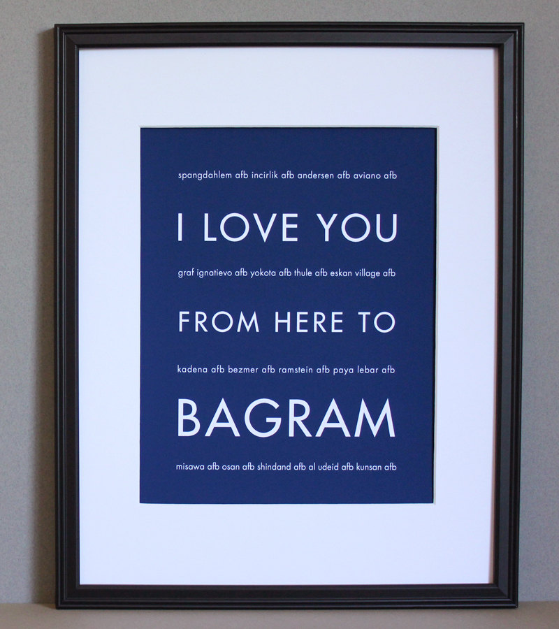 Bagram art print, US Air Force, 8x10