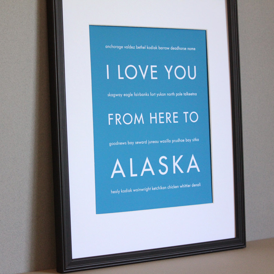 Alaska Art Print, 8x10 