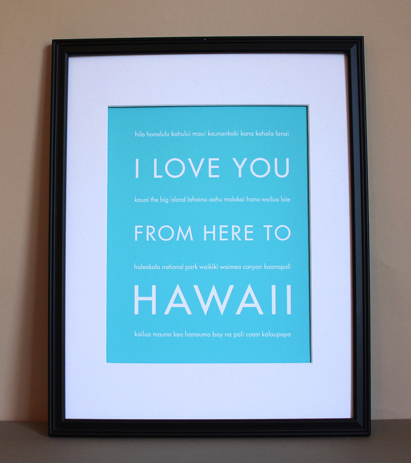 Hawaii Travel Art Print, 8x10