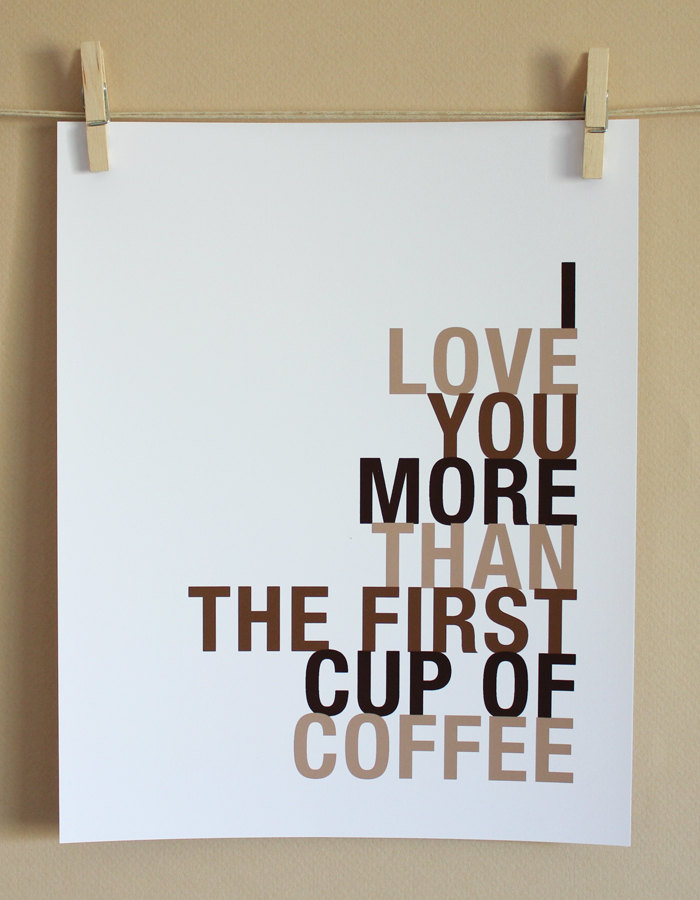 Coffee Art Print, 8x10