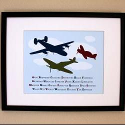 Airplane Alphabet Nursery Art Print  