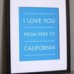 California art print, 8x10