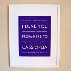 Cassiopeia art print, 8x10