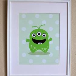 Cute Monster Art, Choose One Little Monster, 8x10