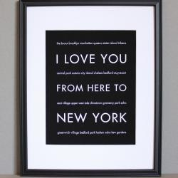 New York art print, 8x10