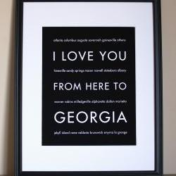 Georgia Art Print, 8x10