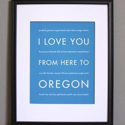 Oregon Art Print, 8x10