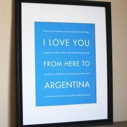 Argentina Art Print, 8x10