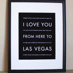 Las Vegas Art Print, 8x10