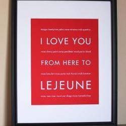 Lejeune Military Marine Corps Art Print, 8x10