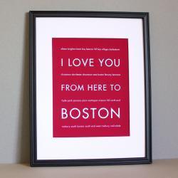 Boston Art Print , 8x10