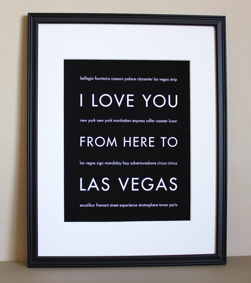 Las Vegas Art Print, 8x10 On Luulla