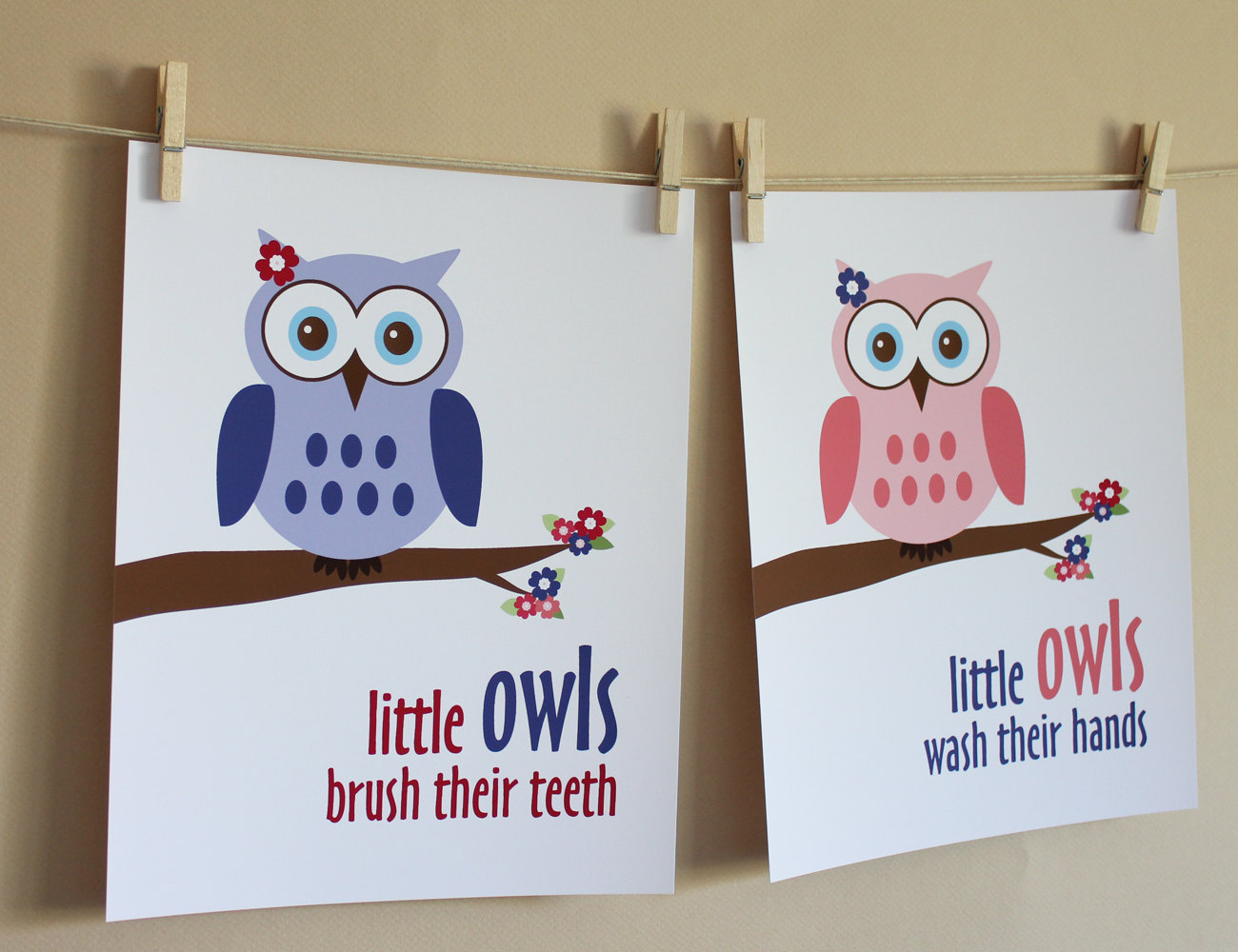 Little Girl Owl Bathroom Art Prints On Luulla